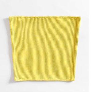 Shein Yellow Bandeau Top